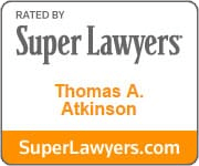 Rated By | Super Lawyers | Thomas A. Atkinson